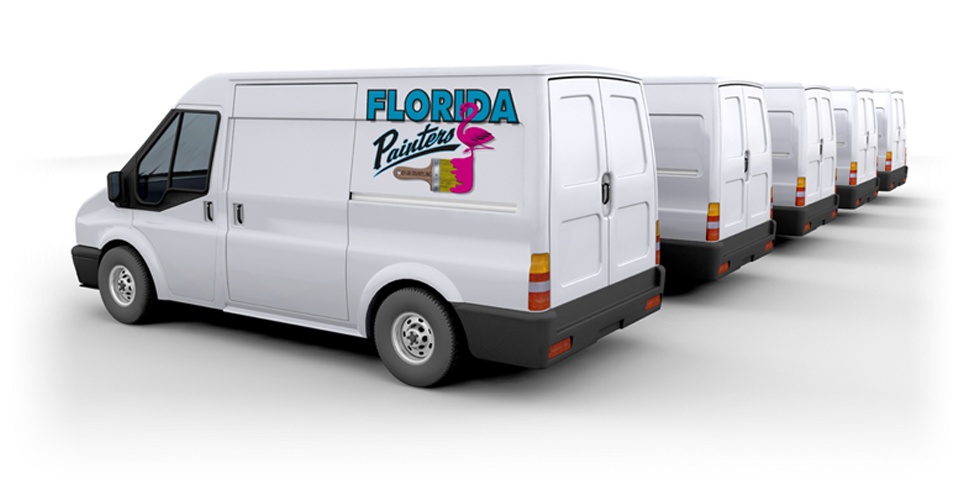 Florida Painters Work Vans with Logo